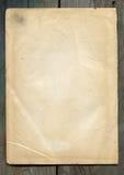 被染黄的纸张 免版税库存图片