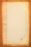 被染黄的纸页 免版税图库摄影
