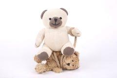 被栓的玩具熊 免版税库存照片