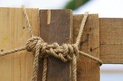 绳索被栓的结 免版税图库摄影