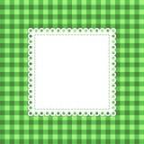 被检查的绿色传染媒介模板 免版税库存图片