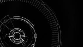 被概述的录影背景组分 抽象圆的动画 向量例证