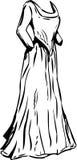 被概述的长的18世纪礼服 皇族释放例证