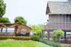 被模仿的模型泰国古老传统农业没有机器 免版税库存照片