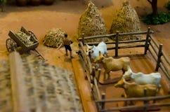 被模仿的模型泰国古老传统农业没有机器 图库摄影