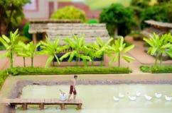 被模仿的模型泰国古老传统农业没有机器 库存照片