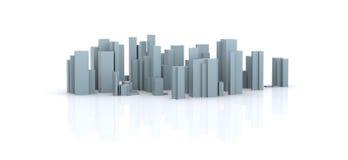 被模拟的城市 免版税库存图片