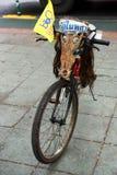 被欺骗的自行车在曼谷 免版税库存照片