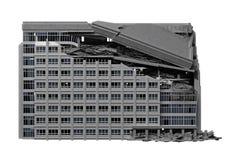 被毁坏的公共建筑 免版税图库摄影