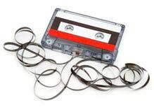 被毁坏的卡式磁带 免版税库存图片