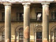 被毁坏的印第安老宫殿 免版税库存照片