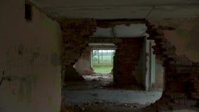 被毁坏的和被放弃的大厦,观点 股票录像