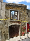 被毁坏的墙壁 免版税库存照片