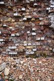 被毁坏的墙壁 免版税库存图片