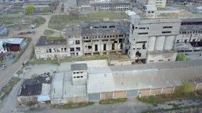 被毁坏的大厦或前提的废墟 影视素材