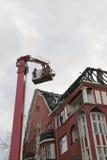 被毁坏的屋顶 免版税库存照片