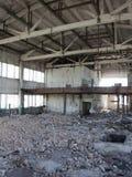 被毁坏的工厂里面 库存照片