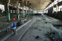 被毁坏的工厂 免版税库存照片