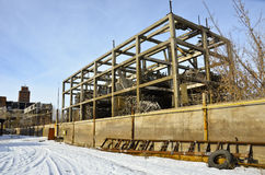 被毁坏的工厂2 免版税库存图片