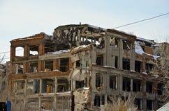 被毁坏的工厂3 库存图片