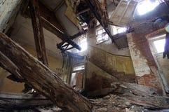被毁坏的房子 库存照片