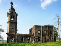 被毁坏的教会 库存照片