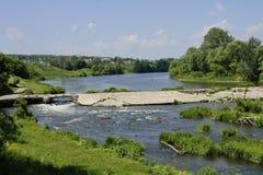 被毁坏的水坝 免版税图库摄影