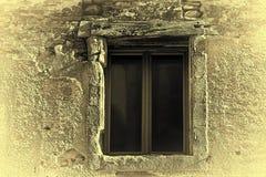 被毁坏的窗口 库存图片