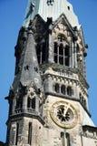 被毁坏的美国轰炸机教会 库存图片