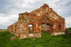 被毁坏的育马场19世纪 图库摄影
