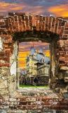 被毁坏的育马场19世纪 免版税图库摄影