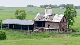被毁坏的谷仓在戴恩县 免版税图库摄影