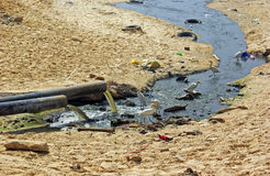 被污染的区 免版税库存图片