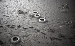 被污染的土壤 免版税库存图片