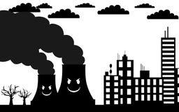 被污染的城市 免版税库存图片