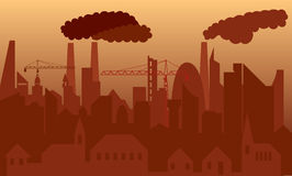 被污染的城市 免版税图库摄影
