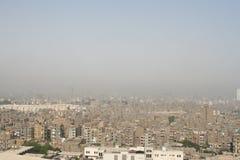 被污染的城市 库存图片