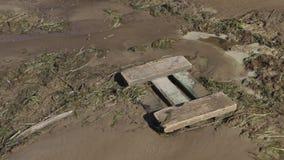 被污染的河岸 r 股票录像