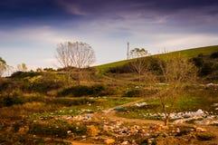 被污染的自然风景 库存图片