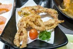 被油炸的日本蜘蛛蟹开胃菜 库存照片