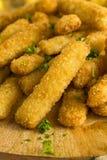 被油炸的炸鱼排用炸薯条 图库摄影