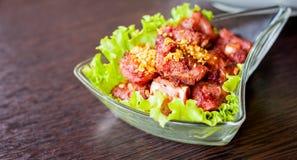 被油炸的猪排骨头越南食物 免版税库存图片