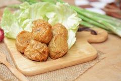 被油炸的鸡肉卷 中国食物 免版税图库摄影