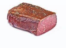 被治疗的五香熏牛肉 图库摄影