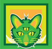 3被注视的猫 免版税库存照片