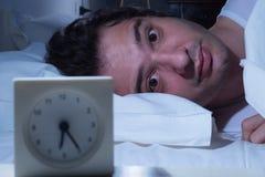 被注重的人失眠 库存图片