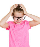被注重的小女孩 免版税库存照片