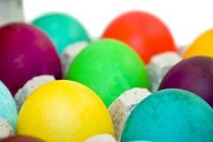被洗染的鸡蛋 免版税图库摄影