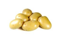 被洗涤的新鲜的土豆肿胀 库存图片