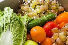 被洗涤的蔬菜 免版税库存图片